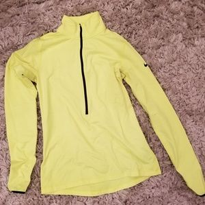 Nike Dri-Fit yellow 3/4 zip large